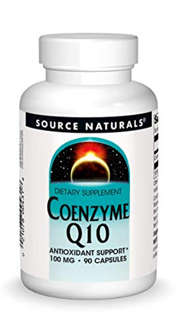 Source Natural Coenzyme Q10 Antioxidant Support 100 mg For Heart, Brain, Immunity, & Liver Support - 90 Capsules