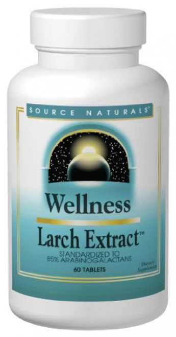 Source Naturals Wellness Larch Extract 1000mcg Supports Immune System - 60 Tablets