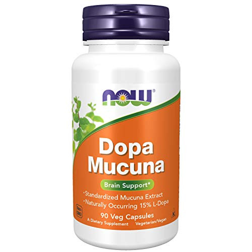NOW Supplements, DOPA Mucuna, Standardized Mucuna Extract with Naturally Occurring 15% L-Dopa, 90 Veg Capsules