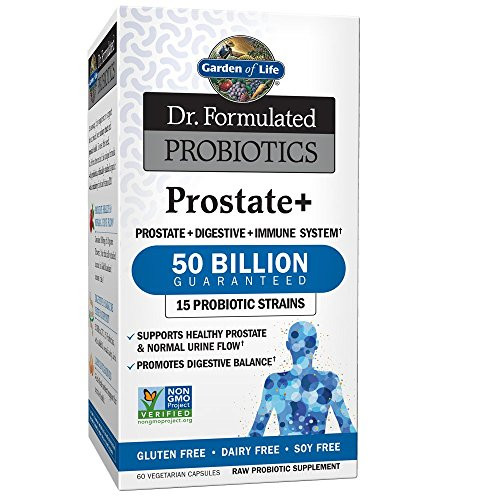 Garden of Life - Dr. Formulated Probiotics Prostate+ - Acidophilus and Probiotic Supports Healthy Prostate and Digestive Balance - Gluten, Dairy, and Soy-Free - 60 Vegetarian Capsules (Shipped Cold)-1610137685