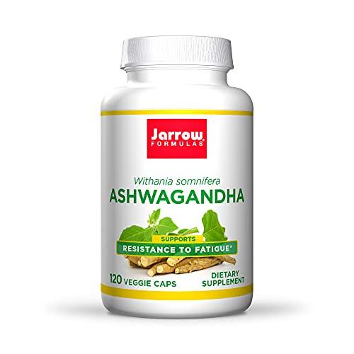 Jarrow Formulas Ashwagandha 300 mg, Supports Resistance to Fatigue, 120 Veggie Caps-1610864265
