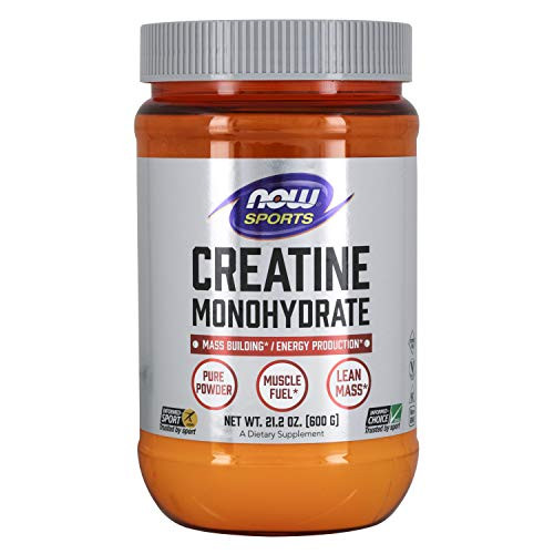 NOW Sports Nutrition, Creatine Monohydrate Powder, Mass Building*/Energy Production*, 21.2-Ounce