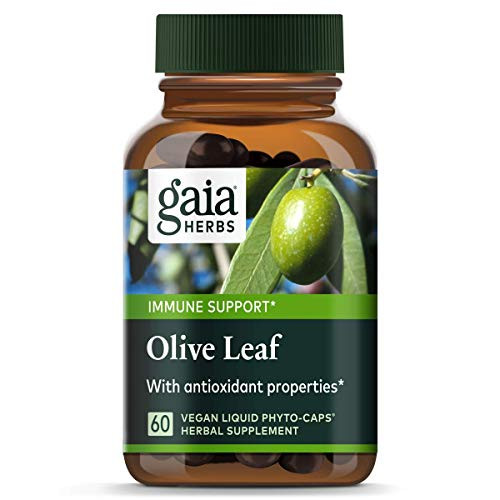 Gaia Herbs Olive Leaf, Vegan Liquid Capsules, 60 Count - Daily Immune Support and Cardiovascular Health Supplement, Antioxidant, 680mg-1610864610