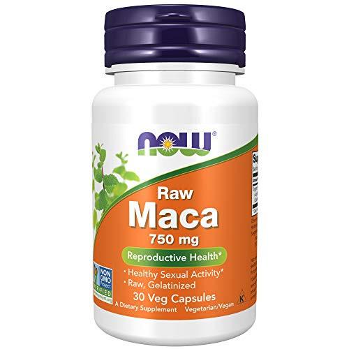NOW Supplements, Maca (Lepidium meyenii) 750 mg Raw, Reproductive Health*, 30 Veg Capsules
