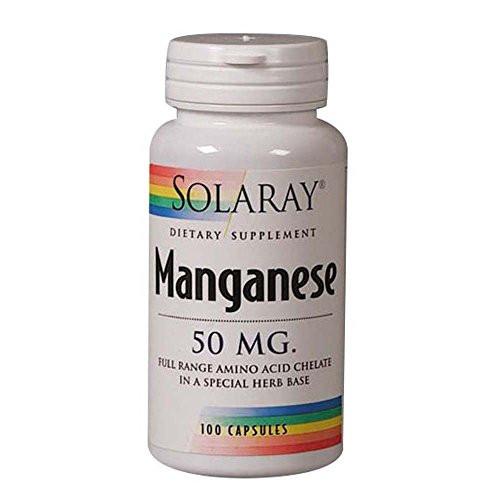 Manganese Full Range Amino Acid Chelate 50 MG (100 Capsules)
