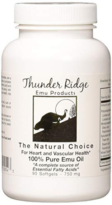 Thunder Ridge Emu Products 100% Pure Oil Softgels, 90 Count