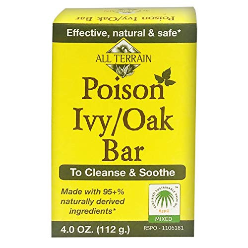All Terrain Natural Poison Ivy Oak/Bar Soap, 4oz., To Cleanse & Soothe, Itchy & Irritated Skin