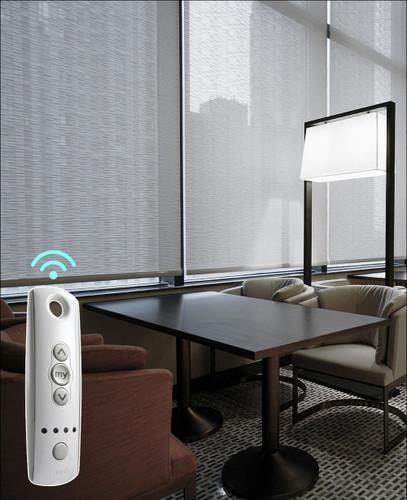 Ecotron Sheer Light Filtering SOMFY Smart Home Motorized Solar Shades
