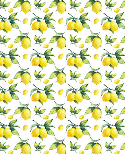 Lemon with leaves pattern shades 5% openness special pattern