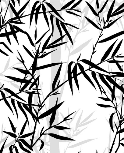 5% openness special patterned solar shades - Bamboo Leaf Texture Fabric. Solar 5% Openness Special Custom Patterned Shades are the best custom blackout roller shades with pigment durability, color quality, and odor impact. These black and white blinds with city names in calligraphy will give your room a modern and chic vibe.