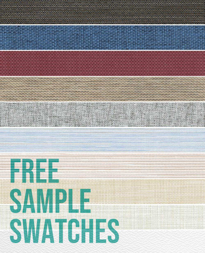Springblinds' Free sample of custom printed shades! Choose a free swatch sample from an assortment of different colors, patterns, and fabrics.