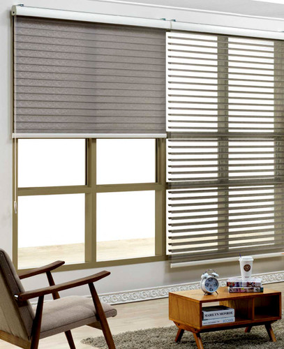 3D Shadow Sheer Shades/Silhouette Sheer Shades LENO TRIPLE SHADE for living room. 3D Triple Silhouette Sheer Shades are triple layered fabric shades. The 2 silhouettes make them perfect for both providing light and providing shade to your room.