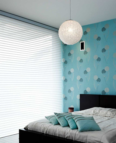 3D Shadow Sheer Shades/Silhouette Sheer Shades 75MM TRIPLE SHADE for bed room - Color White