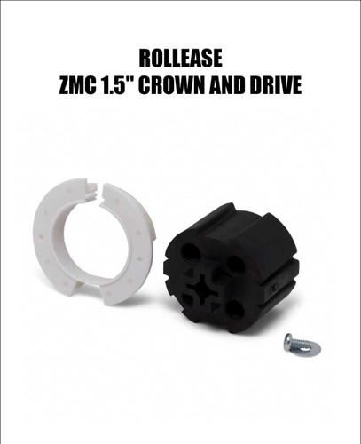 """Rollease ZMC 1.5"""" Crown and Drive (MPN #9020674) View Front"""
