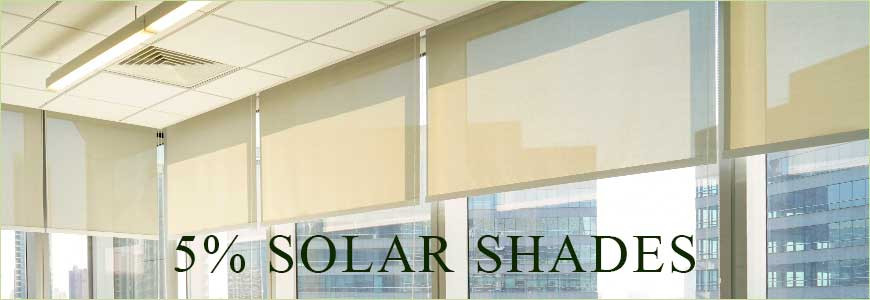 What 5% Openness Solar Roller Shades Can Give you?