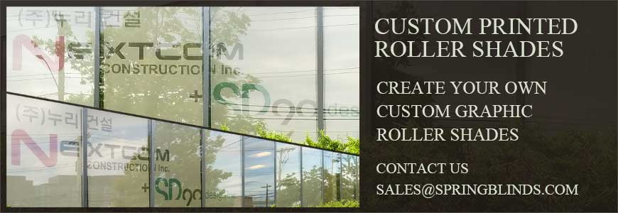 Create your own custom graphic roller shades