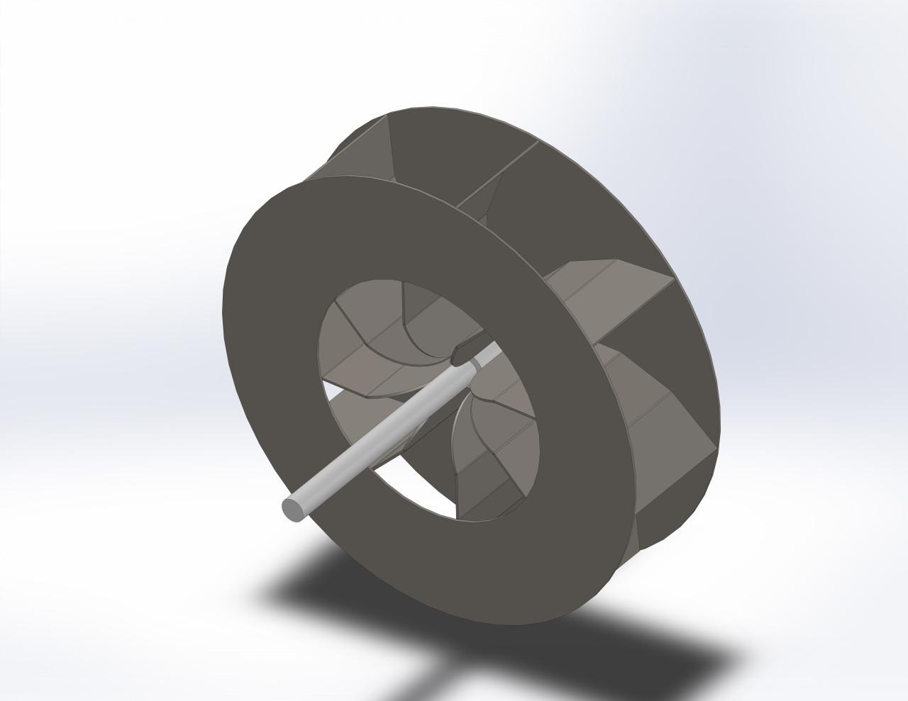 "Fan, Turbine 24"" curved blades (Fits Raptor 2 gas and Osprey 2)"