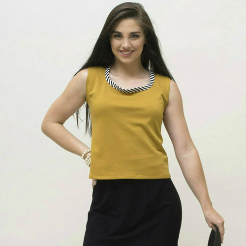 The BePear Blouse - Mustard
