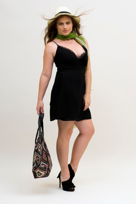 Shown here with our beautiful lime green and olive scarf.