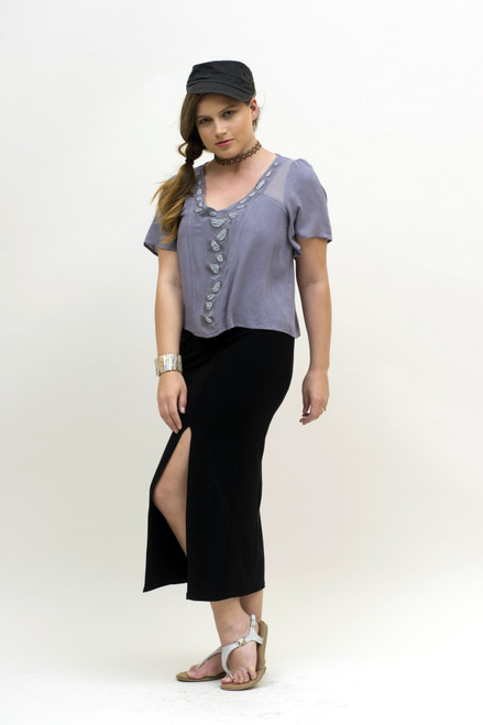 BePear Maxi Pencil Skirt - Black