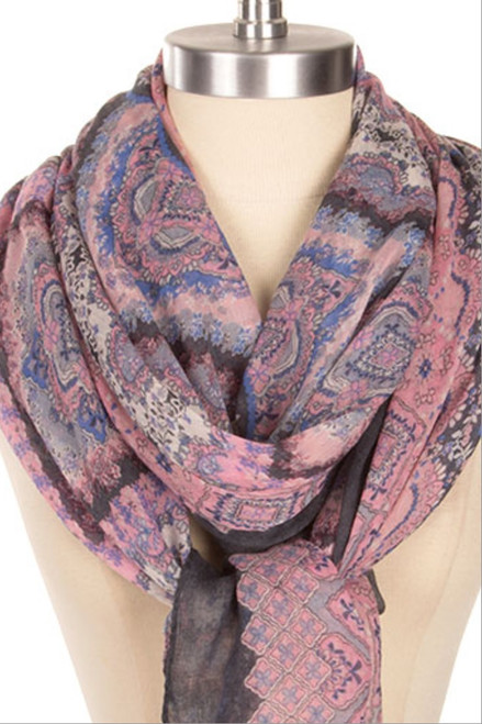 Purple-Charcoal Scarf