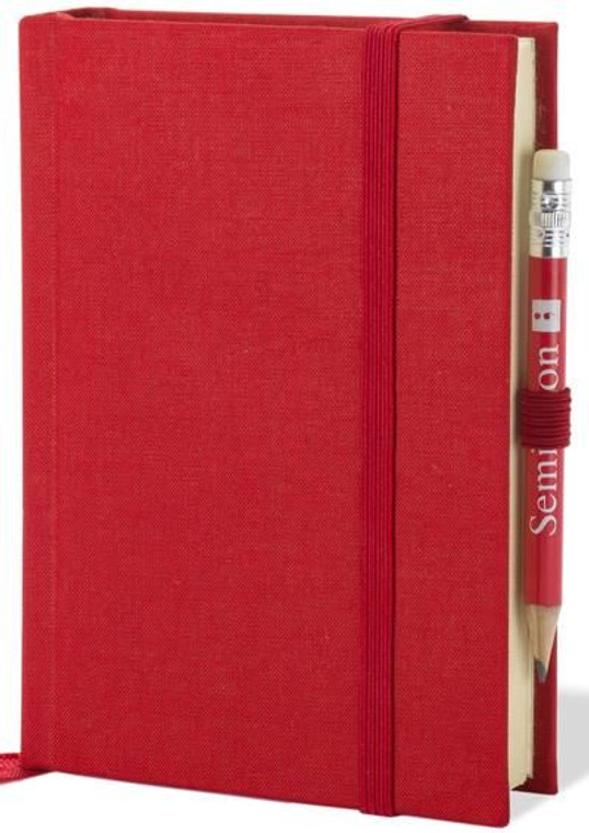 Red Petit Voyage Journal Notebook with watermarked paper