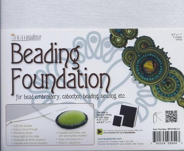Beading Foundation 8.5x11 White (4 pc)