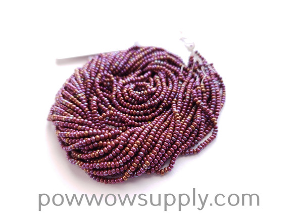 11/0 Seed Beads Opaque AB Light Brown