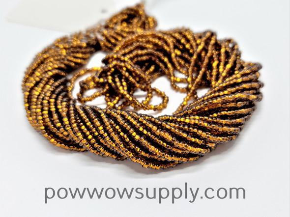 10/0 Seed Beads Silver Lined Smoke Topaz