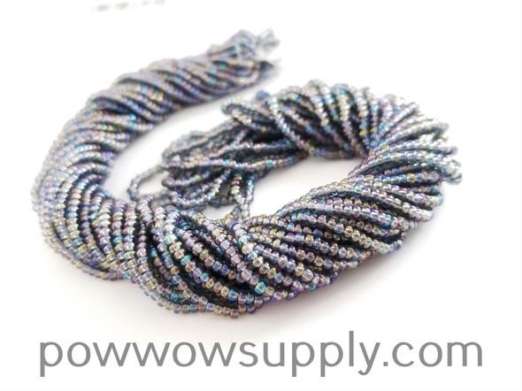 11/0 Seed Beads Transparent AB Grey