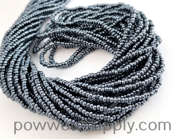 10/0 Seed Bead Metallic Gunmetal
