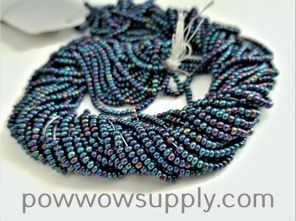 11/0 Seed Beads Metallic Iris Blue