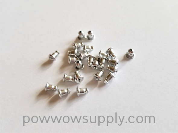 Earring Back Rubber-Stainless Steel Plated  - 12 pairs