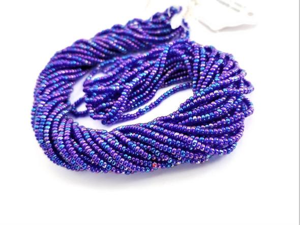 11/0 Seed Beads Transparent AB Cobalt