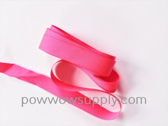 """3/4"""" Grosgrain Neon Pink (5 yards)"""
