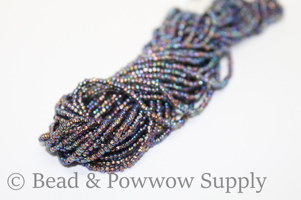 11/0 Seed Beads Copper Lined Grey AB