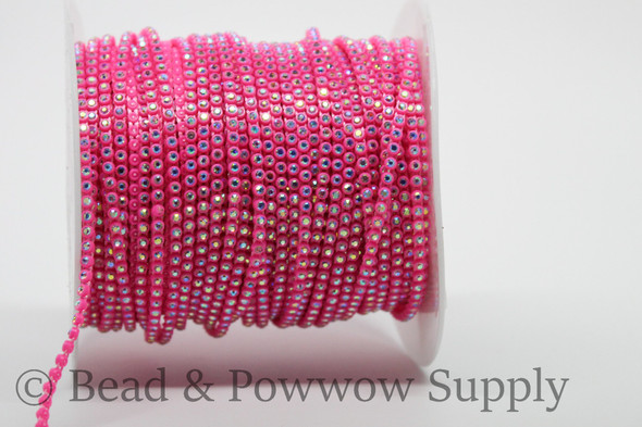 Chinese SS6 Neon Pink-Crystal AB