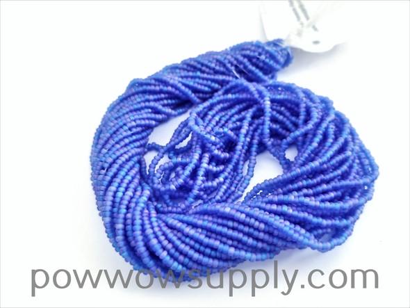 11/0 Seed Beads Transparent AB Matte Sapphire