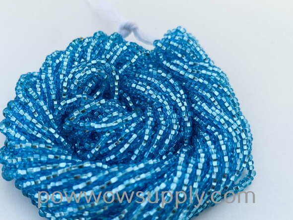 11/0 Seed Beads Silver Lined Light Aqua