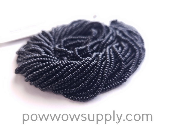 10/0 Seed Beads Opaque Black