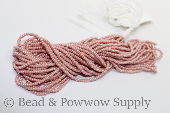 11/0 Seed Beads Opaque Luster Pink