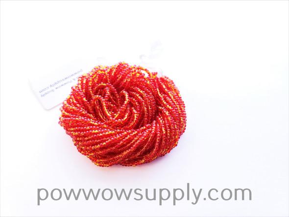 10/0 Seed Beads Fire Opal