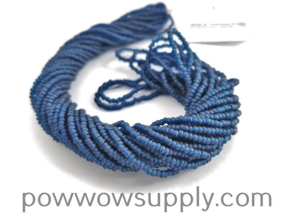 11/0 Seed Beads Transparent Matte Montana Blue