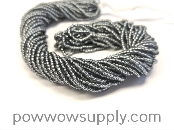 11/0 Seed Beads Silver Lined Grey