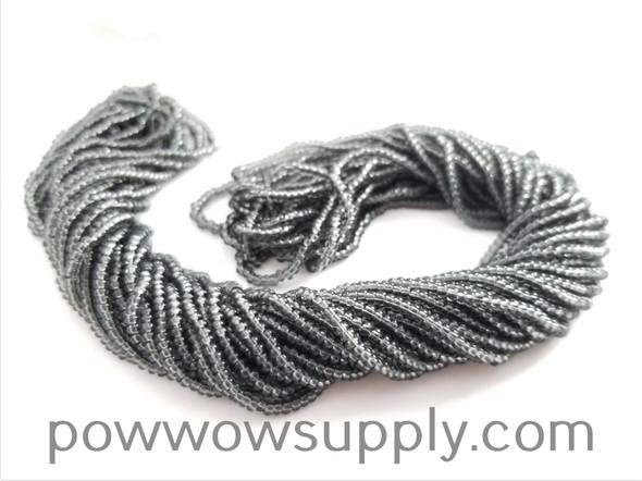 13/0 Seed Beads Transparent Grey