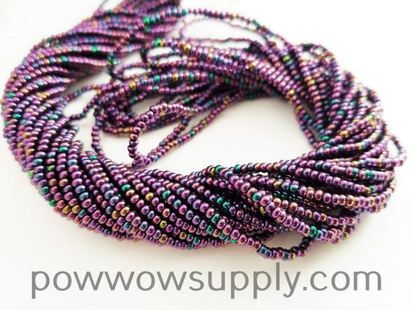 11/0 Seed Beads Metallic Iris Purple