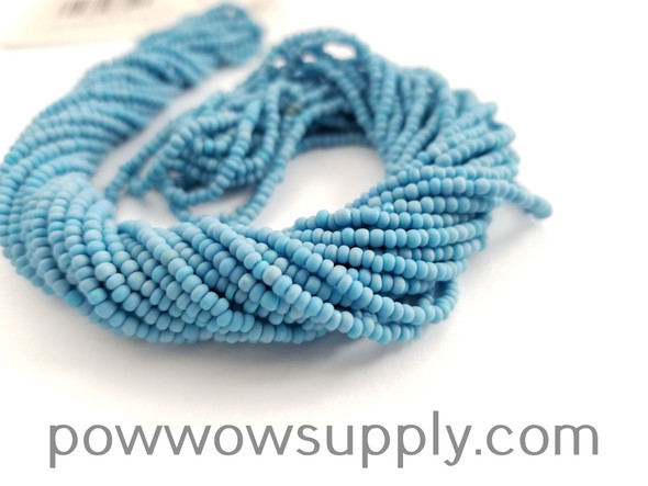 11/0 Seed Beads Opaque AB Matte Sky Blue