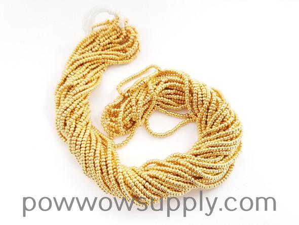 11/0 Seed Beads Metallic 24k Gold Plated