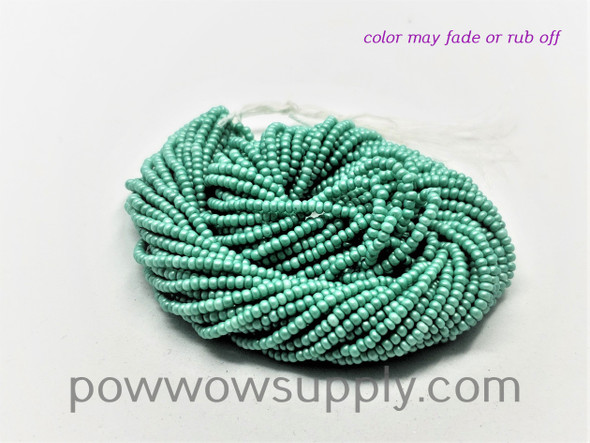 11/0 Seed Beads Pearl Matte Mint Green