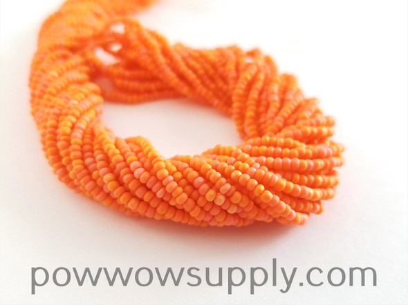 11/0 Seed Beads Opaque AB Matte Orange